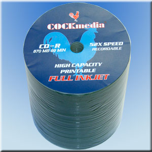 COCKmedia CD-R <b>Printable</b> 870 MB 52x - <b>100er Folienspindel</b>