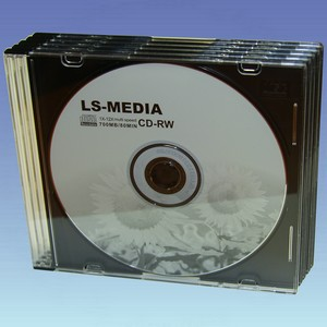 LS-media CD-RW 700 MB 12x - <b>5 Stck. im SlimCase</b>